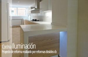 Reforma de una cocina detalle de la iluminación. Reformas Dosidos Valencia.