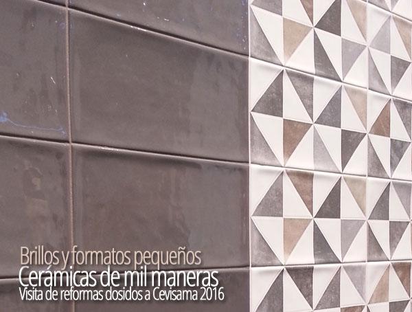 Cevisama 2016 Revestimientos con brillo y dibujos geométricos para tus reformas en Valencia.