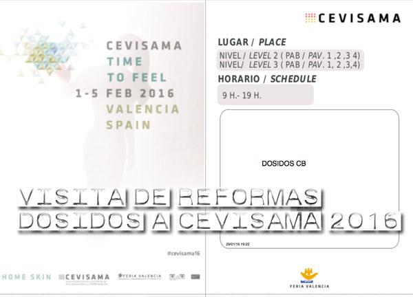 Entrada Cevisama 2016 - Un año más nos vemos en Valencia para ver las novedades en Cerámica.