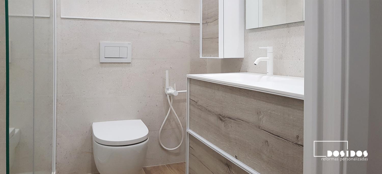 Reforma baño moderno Valencia Porcelanosa