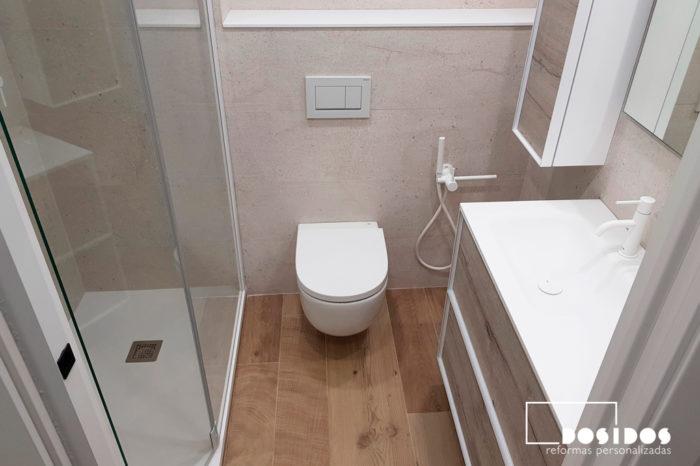Vista reforma baño moderno Porcelanosa Valencia