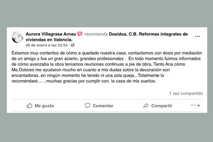 Opinión clientes reformas Valencia